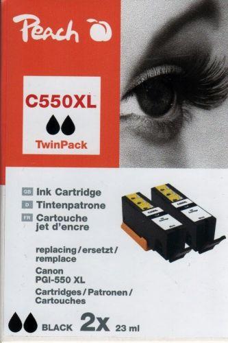 Peach TwinPack PI100-235, kompatibel zu Canon PGI-550XL