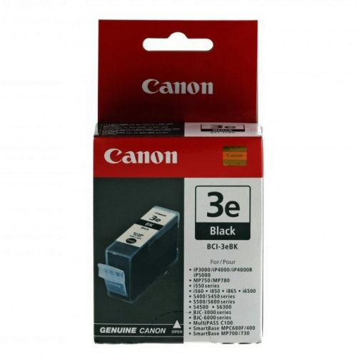 Original Canon Tintenpatrone Black Nr. 3, BCI-3eBK