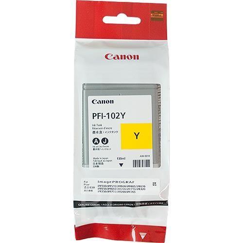 Original Canon Tintenpatrone PFI-102Y