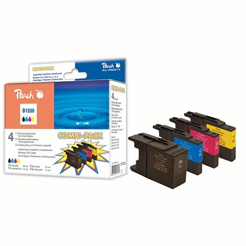 Druckpatrone Peach Combi-Pack PI500-74 für Brother LC1280