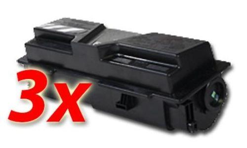 Toner-Set: 3 x schwarz, alternativ zu Kyocera TK-170
